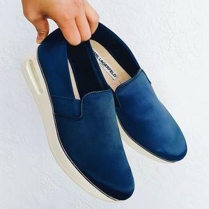 NWOT Blue Silk Karl Lagerfeld Paris Shoes